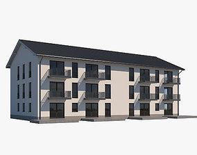 3D model Apartment Building 002