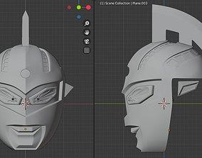 Ultraseven Ultraman Seven 3D printable helmet supersentai