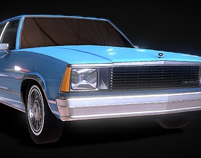low-poly Chevrolet Malibu Classic 3D Model