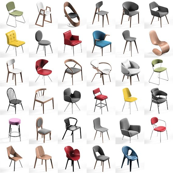 Chair Mega Pack collection 57x