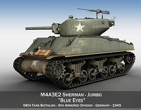 M4A3E2 - Sherman Jumbo - Blue Eyes 3D model