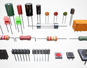 Electronic Components 3D asset