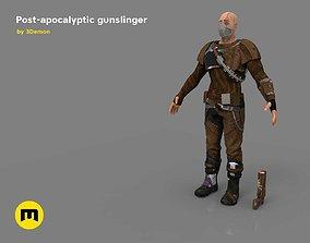 The Gunslinger - post-apocalyptic Warrior 3D asset