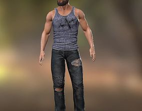 3D model rigged Bearded Man