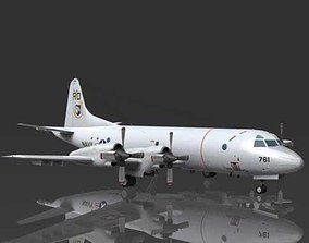 3D Lockheed P3C Orion US Navy aircraft