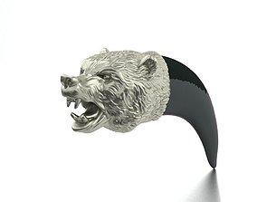 Bear silver 3D printable model