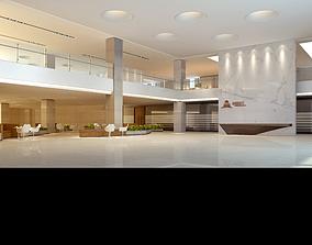 Office building lobby design 3D