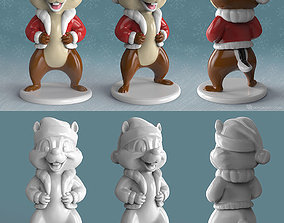 Cheap and Dale new year character 3D printable model