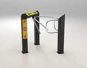 3D model realtime Security Gate