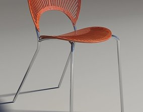 Chair Trinitad Style Red Wood 3D