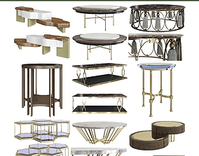 realtime Side ond coffee table 3d models 10 pieces