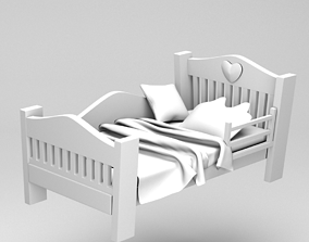 Children bed 3D model realtime