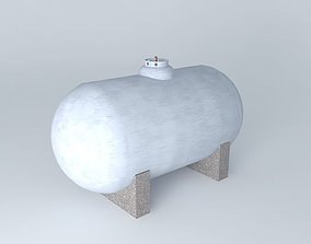 Large residential propane tank 3D