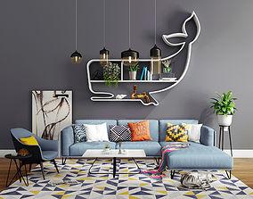 Livingroom modern sofa set 4 3D furniture