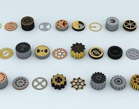 3D model Steampunk Cogwheels Pack