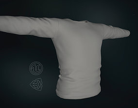 3D model Gray Long Sleeve T-Shirt