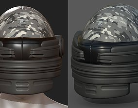 Helmet scifi military combat 3d low-poly