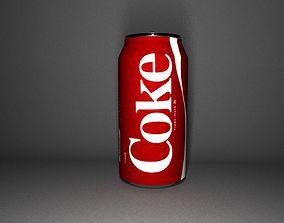 Coke soda can drink 3D model