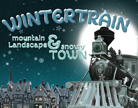3D asset Winter Train