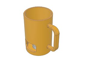 Fondue Heated Mug 3D print model