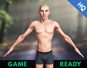 3D model Man Game Ready Character Stylized Cartoon Male 1