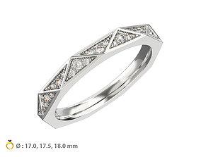 3D print model N121 Geometric style Diamond Ring Signature