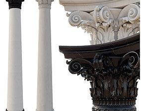 Column corinthian order 3D