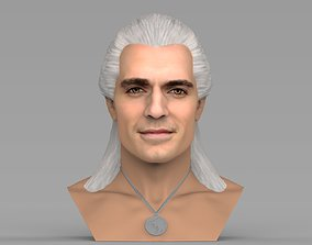 Geralt of Rivia The Witcher Cavill bust full color 3D