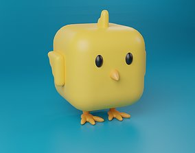 Cute cartoon Chick 3d stylized Character animal 3D model