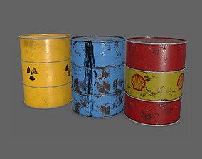 Oil Barrels PBR 3D asset