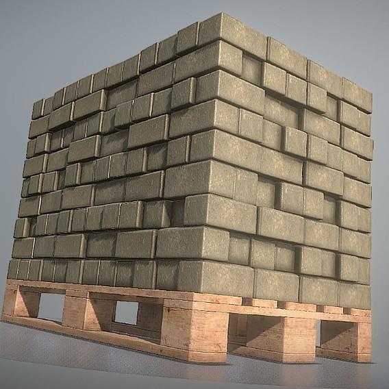 Animated Cobblestones on a Europallet