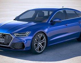 3D Audi A7 S-line Sportback 2018