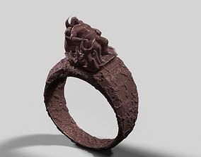 3D print model funny fat man ring