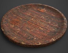 Medieval Tavern Plate 3D asset