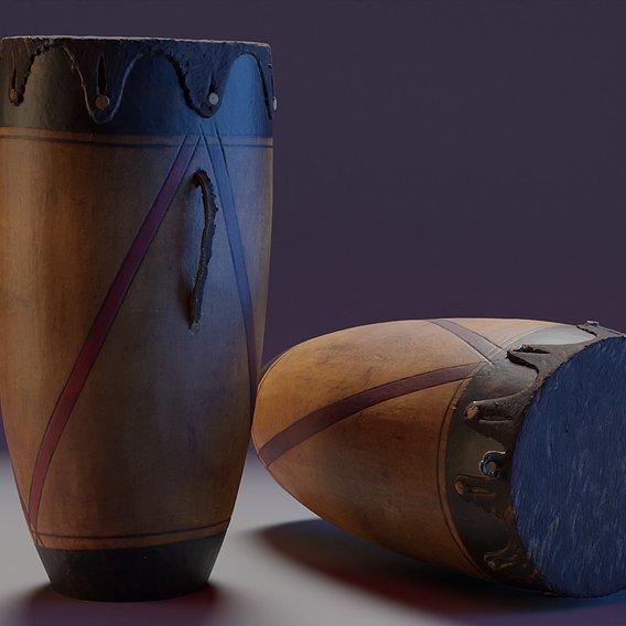 African drum scan