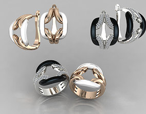 ring and earrings jewelry 3D print model