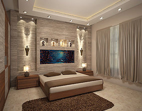 3D model House Extrerior and Bed Room