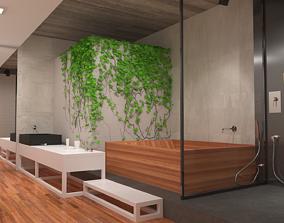 3D model realtime Green Bathroom