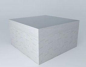 Pouf IBIZA light gray houses the world 3D model
