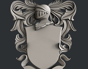 shield 3d STL models for CNC router Coat of Arms