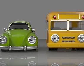 3D lovely car bus fantasy toy