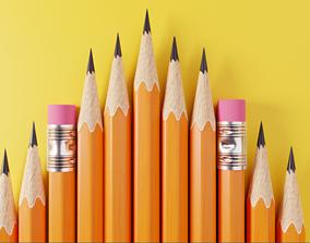 Pencil 3D model Free