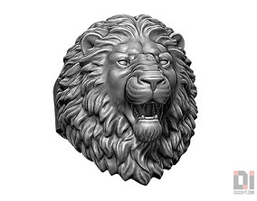 3D printable model Angry Lion roaring animal head ring 1