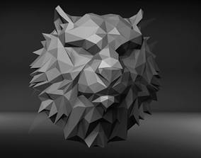 Low Poly Tiger Bust 3D print model