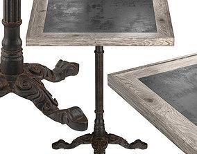 Restaurant Table Square Metal Sheet II 3D model