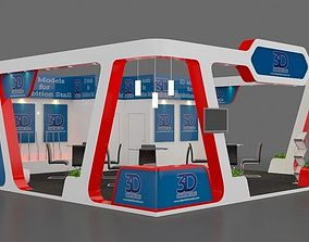 Exhibition stall 8x8 meter 3D