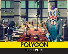 3D asset POLYGON - Heist Pack