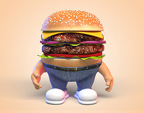 Burger Man Character 3D onion