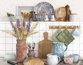 3D model PBR Decorative set for the kitchen 01