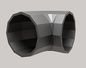 Building Roof Vent Metallic Material 3D asset